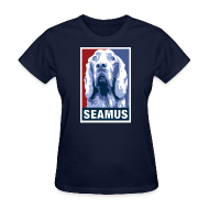 Women's T-Shirts ~ Women's T-Shirt ~ Dogs Against Romney Limited Edition SEAMUS by DEVO's Gerald Casale