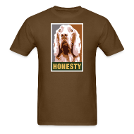 T-Shirts ~ Men's T-Shirt ~ Dogs Against Romney Limited Edition HONESTY by DEVO's Gerald Casale