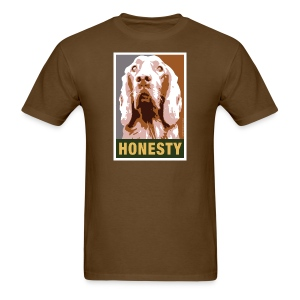 Dogs Against Romney Limited Edition HONESTY by DEVO's Gerald Casale - Men's T-Shirt