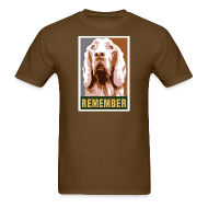 T-Shirts ~ Men's T-Shirt ~ Dogs Against Romney Limited Edition REMEMBER by DEVO's Gerald Casale
