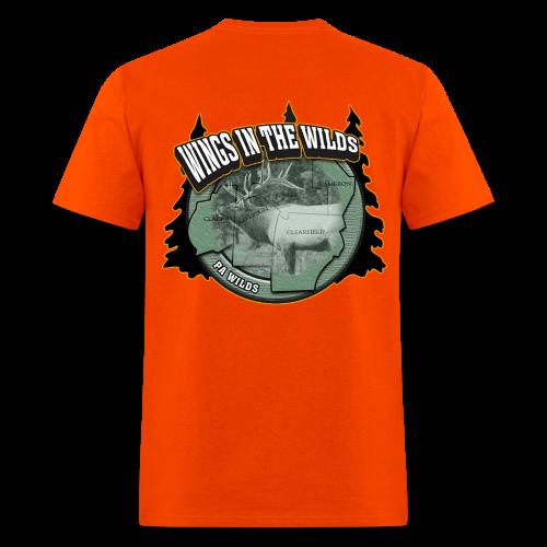 Men's Standard T- w/back & chest logo, name (Black Glitz) - Men's T-Shirt