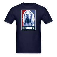 T-Shirts ~ Men's T-Shirt ~ Dogs Against Romney Limited Edition DISOBEY by DEVO's Gerald Casale