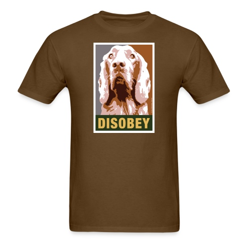 Dogs Against Romney Limited Edition DISOBEY by DEVO's Gerald Casale - Men's T-Shirt