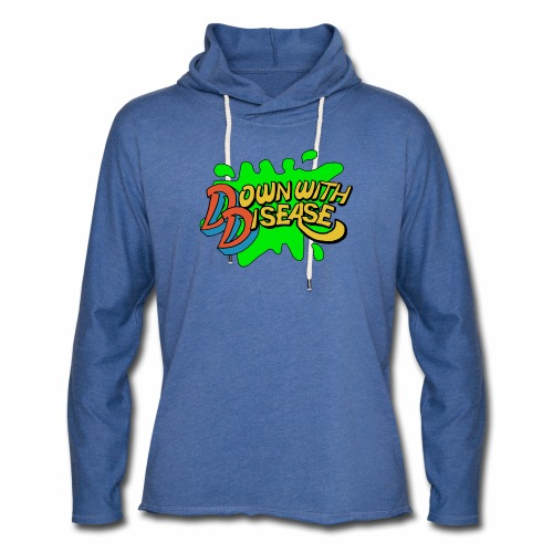 Down with Disease Lightweight Terry Hoodie - Unisex Lightweight Terry Hoodie