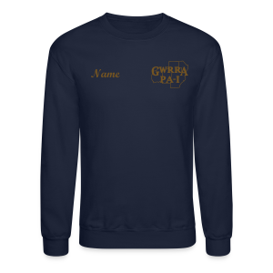 Men & Women's Sweatshirt- Back & chest logo, name (Gold Glitz) - Crewneck Sweatshirt