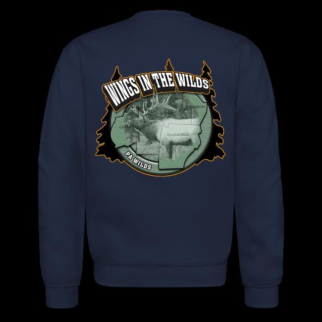 Men & Women's Sweatshirt- Back & chest logo, name (Gold Glitz)