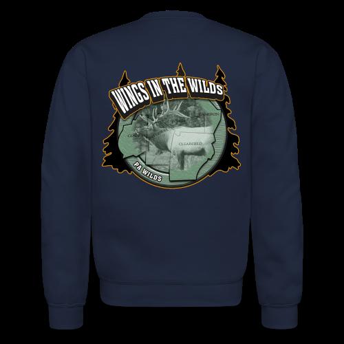 Men & Women's Sweatshirt- Back & chest logo (Gold Glitz) - Crewneck Sweatshirt