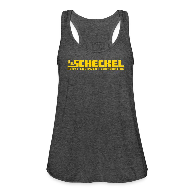 jjscheckelyellowlogo - Women's Flowy Tank Top by Bella