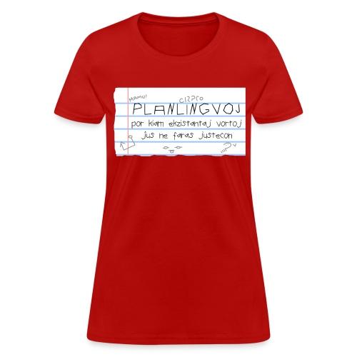 Planlingvoj (Feminine) - Women's T-Shirt