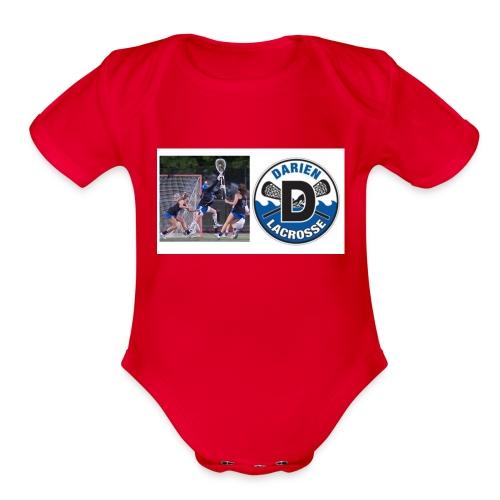 GIRLS LAX DHS - Organic Short Sleeve Baby Bodysuit