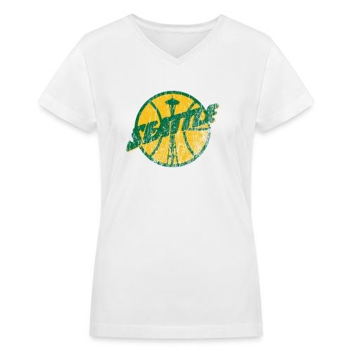 Seattle Basketball - Women's V-Neck T-Shirt