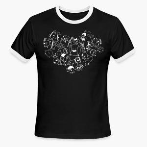 II Group Heart Ringer Tee - Men's Ringer T-Shirt