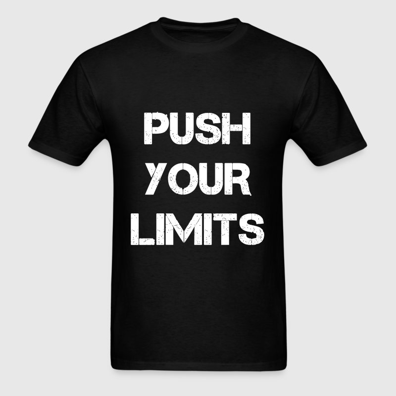 I Live Life Gym Workout Push Your Limits Fitness T Shirt