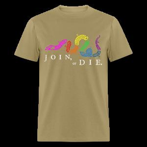 Join or Die LGBTQIA+ Shirt - Men's T-Shirt