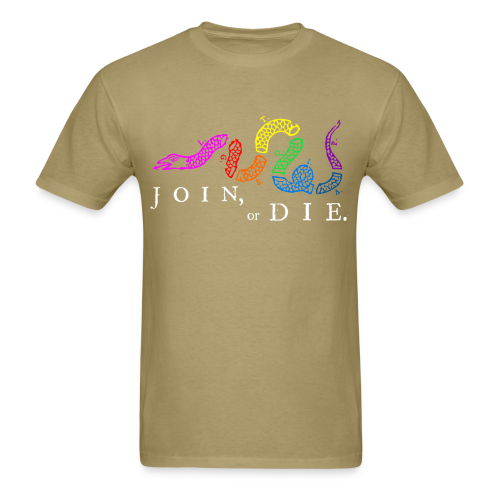 Join or Die LGBTQIA+ Shirt - Men's T-Shirt