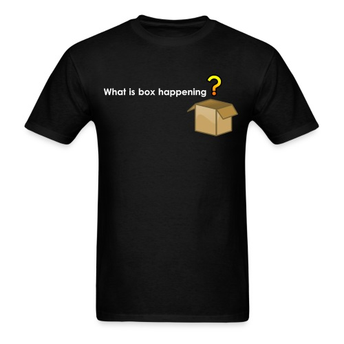What is box happening? (Dark) - Men's T-Shirt