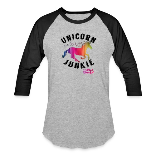 Unicorn Junkie Raglan  - Baseball T-Shirt