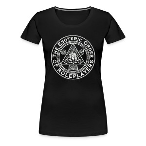 Esoteric Order of Roleplayers Logo Shirt (Women's White Logo) - Women's Premium T-Shirt