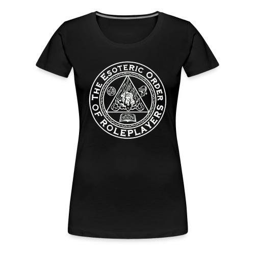 Esoteric Order of Roleplayers Logo Shirt (Women's White Logo) - Women's Premium T-Shirt