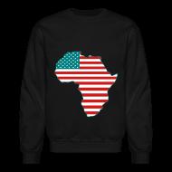 Long Sleeve Shirts ~ Crewneck Sweatshirt ~ USAfrica Crewneck Sweatshirt
