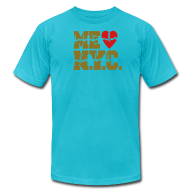 T-Shirts ~ Men's T-Shirt by American Apparel ~ ME GUSTA NUEVA YORK  NEW YORK CITY