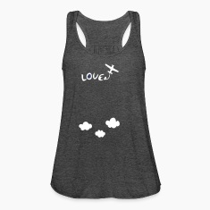Love peace aviation Women's Flowy Tank Top by Bella