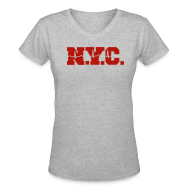 Women's T-Shirts ~ Women's V-Neck T-Shirt ~ NEW YORK CITY