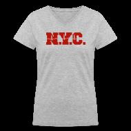 Women's T-Shirts ~ Women's V-Neck T-Shirt ~ NEW YORK CITY