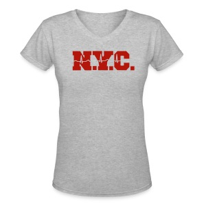 NEW YORK CITY - Women's V-Neck T-Shirt