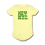 Baby Bodysuits ~ Baby Short Sleeve One Piece ~ ME GUSTA NUEVA YORK  NEW YORK CITY