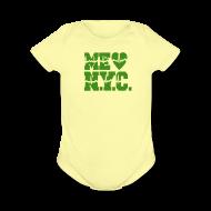 Baby Bodysuits ~ Baby Short Sleeve One Piece ~ ME GUSTA NUEVA YORK  NEW YORK CITY