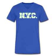 T-Shirts ~ Men's V-Neck T-Shirt by Canvas ~ NEW YORK CITY