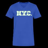 T-Shirts ~ Men's V-Neck T-Shirt by Canvas ~ NEW YORK CITY