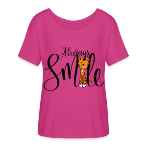 Always smile - Women's Flowy T-Shirt