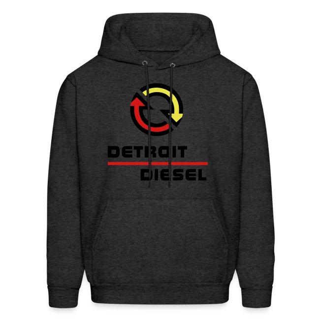 Detroit Diesel Disturbing The Peace Since 1938 Black Lettering Mens Hoodie