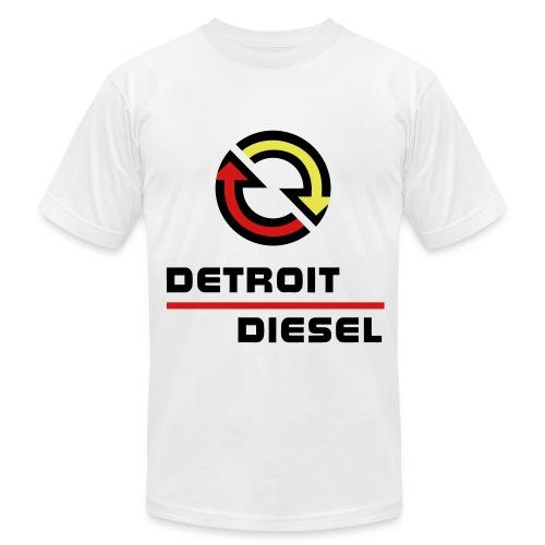 Detroit Diesel - Large Logo - 4-53 Cutaway - Men's Fine Jersey T-Shirt