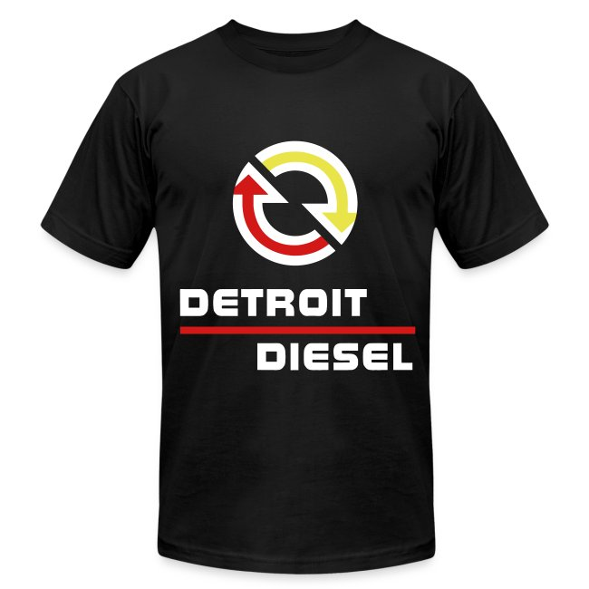 Detroit Diesel Disturbing The Peace Since 1938 White Lettering Mens Fine Jersey T Shirt