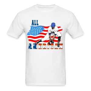 All American Baseball Player - Men's T-Shirt