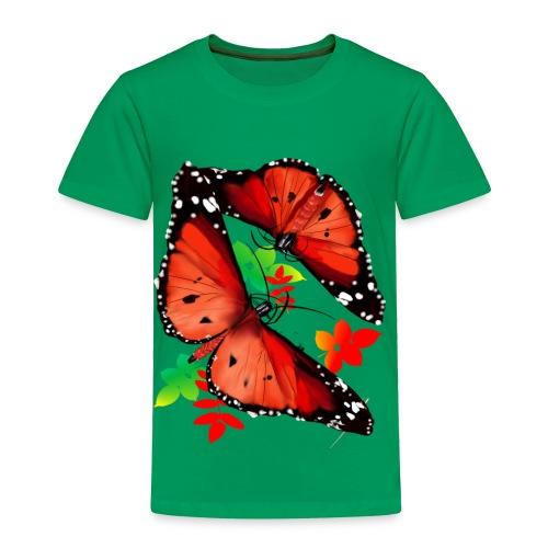 TWO BIG BRIGHT ORANGE BUTTERFLIES - Toddler Premium T-Shirt
