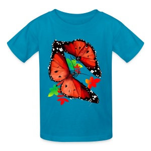 TWO BIG BRIGHT ORANGE BUTTERFLIES - Kids' T-Shirt