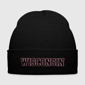 Wisconsin - Knit Cap with Cuff Print