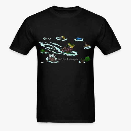 Don't Feed The Crocogator (white text) - Men's T-Shirt