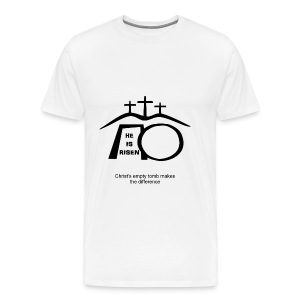 His empty tomb makes the difference  - Men's Premium T-Shirt