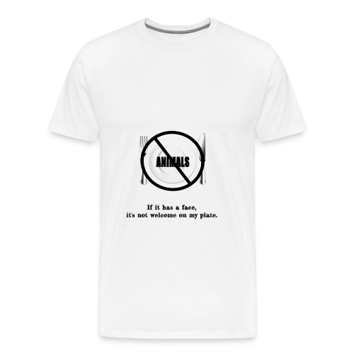 No faces on my plate - Men's Premium T-Shirt