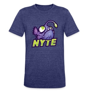 Nyte Fish T Shirt - Unisex Tri-Blend T-Shirt by American Apparel