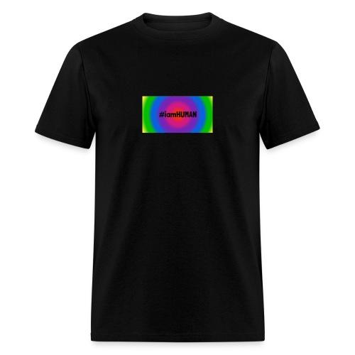 i am HUMAN. Rainbow Block - Men's T-Shirt
