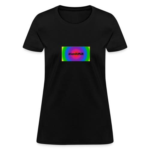 i am HUMAN. Rainbow Block - Women's T-Shirt