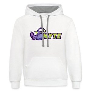 Nyte Fish Hoodie Chest - Contrast Hoodie