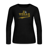 Long Sleeve Shirts ~ Women's Long Sleeve Jersey T-Shirt ~ j'aime Las Vegas