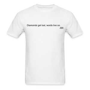 Diamonds & Words - Men's T-Shirt
